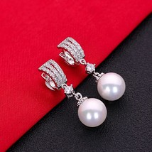 Gorgeous Hot Sale White AAA Cubic Zirconia Pearl Fashion Jewelry 925 Sterling Si - $16.99