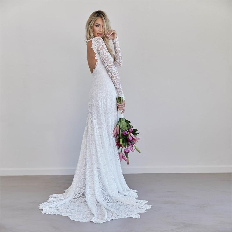 Op neckline long sleeve wedding dress lace sleeves low back 938c918b e193 4f84 bdea f45f6bfed3d9