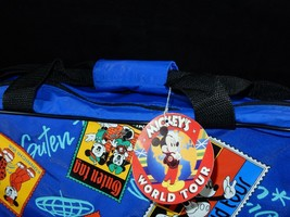 Walt Disney Company Mickey's World Tour Kids Overnighter Tote Bag Luggage w/Tags - $37.99