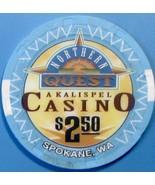 $2.50 Casino Chip. Northern Quest, Spokane, WA. W07. - $4.99