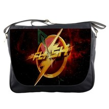 Messenger Bag The Flash Logo With Green Arrow In Red Rose Background Sup... - $30.00