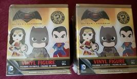 FUNKO DC COMICS BATMAN V SUPERMAN MYSTERY MINIS VINYL FIGURE-LOT OF 2 SE... - $14.37