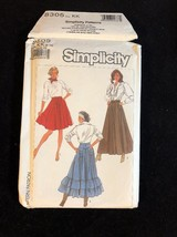 1987 Simplicity Sewing Pattern 8305 SZ 8-14 Skirt Uncut - $5.45