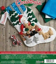 "Bucilla 'Santa's Forest Family' 18"" Christmas Stocking Felt Applique Kit... - $28.99"