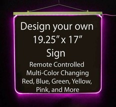 "Personalized LED Sign,19.25"" x 17"" design your own sign - $207.90"