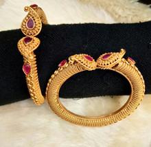 BabosaSakhi Indian Bollywood 22k Gold Plated Ethnic Temple Polki Bangle ... - $36.61