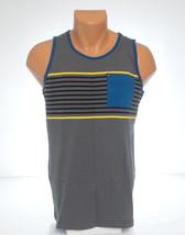 Quiksilver Gray Striped Sleeveless Tank Top Shirt Youth Boy's NWT - $18.74