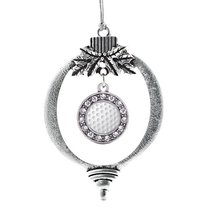 Inspired Silver Golf Lovers Circle Holiday Decoration Christmas Tree Ornament - €12,80 EUR