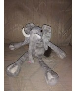 "K & M International Elephant Beanbag Plush 12"" Gray Stuffed Animal 1999 ... - $15.84"
