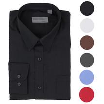 Alberto Cardinali Men's Tailored Fit Long Sleeve Wrinkle Resistant Dress Shirt
