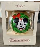 Hallmark Keepsake Glass Ornament Ball 1983 Walt Disney Mickey Mouse - $17.72