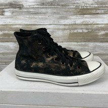 Converse Chuck Taylor All Star Black And Gold Leather Women's Size 7 - $34.65