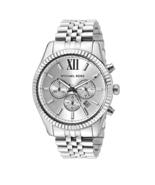 New Michael Kors Lexington Silver Dial Chronograph MK8405 Men's Watch - $128.65