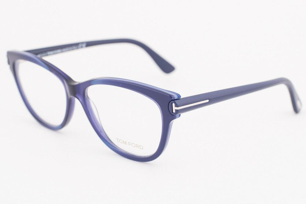 Tom Ford 5287 092 Blue Eyeglasses TF5287 092 55mm