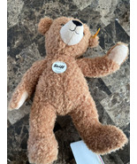 "NEW STEIFF KNOPF IM OHR HANNES TEDDY BEAR JOINTED PLUSH DOLL 13""vintage - $79.20"