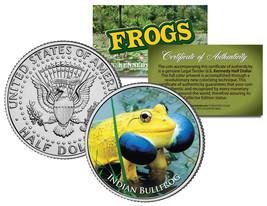 INDIAN BULLFROG * Collectible Frogs * JFK Kennedy Half Dollar US Coloriz... - $8.86