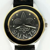 New Orleans Saints NFL, Fossil Unworn Mans Vintage 1993, Leather Band Watch! $95 - $93.90