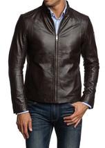 New Men's Genuine Lambskin Leather Slim Fit Biker Motorcycle Jacket - BNWT - $69.29+