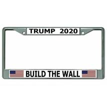 president donald trump 2020 build the wall chrome license plate frame ma... - $27.07
