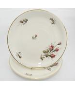 "Rosenthal 4 8"" Salad Plates F33 22 15 Rosebuds Thorny Stems Gilded Edge ... - $22.56"