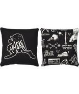 Alaska State Pillow Primitives by Kathy Black White 10 x 10 - $9.95