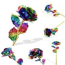 Rose Flower Multi-Color Plated Rose Romantic Valentine Day - 1 x Random Color image 9