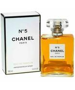 Chanel No.5 3.4 oz 100 ml Women's Eau de Parfum Perfume #5 ~ NEW SEALED BOX - $89.09