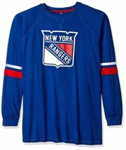 Majestic NHL New York Rangers Long Sleeve Tee with Double Arm Stripes, M... - $19.99