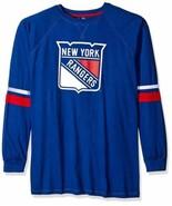 Majestic NHL New York Rangers Long Sleeve Tee with Double Arm Stripes, Medium, R - $19.99