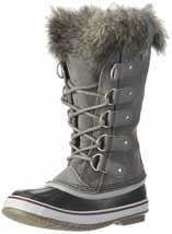 SOREL Womens Quarry/Black Insulated Leather Joan Of Arctic Winter Snow Boots NIB image 2