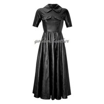 WOMEN LEATHER DRESS GENUINE LAMBSKIN PURE LEATHER SEXY COCKTAIL PARTY DRESS G 6