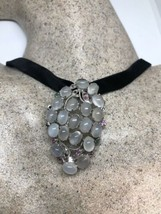 Vintage Moonstone Pin Pendant 925 Sterling Silver Choker Necklace - $242.55