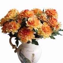 Htmeing 10 Heads Artificial Silk Gerbera Daisy Flowers Marigold Bouquet ... - $32.67