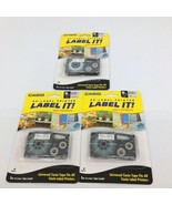 "3 Packs CASIO EZ-Label Printer Tape Cartridge 9mm 3/8""- 1 White 2 Clear ... - $30.84"