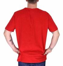 LACOSTE EMBROIDERED LOGO MEN'S RED PREMIUM COTTON CREW NECK SHIRT T-SHIRT - L image 2