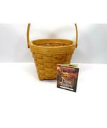 "1998 Longaberger Classic 7"" Basket 13901 w/Handle & Plastic Protector - $8.42"