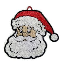 "Santa Face Embroidered Iron on/Sew patch [3.89""3.78""] [Made in USA] - €5,95 EUR"
