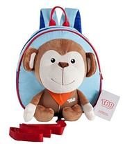 Korean Infant Knapsack Toddle Backpack Prevent From Getting Lose Monkey[B]