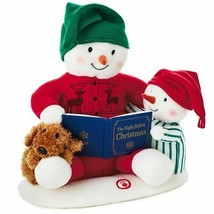 Hallmark Storytime Christmas Snowman Singing Plush with Motion New with Tag - $57.81