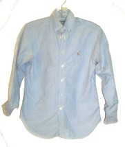 Size 12 - Ralph Lauren Light Blue Jean Denim Long Sleeve Shirt w/Polo Logo - $28.49