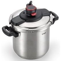 8 Qt Dishwasher Safe Stainless Steel Pressure Cooker w/ Steam Basket & S... - £123.78 GBP