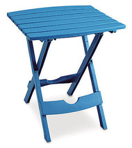 Patio Side Table, Quik Fold, Resin, Pool Blue - $27.71