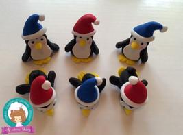 Penguins fondant cupcake topper - $39.00