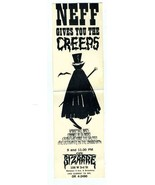 Cafe Bizarre Ad Card Neff Gives You the Creeps New York Greenwich Villag... - $148.88