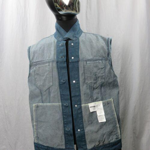 Levis Camionero Denim sin Mangas Jean Jacket XL Color Azul Índigo 4 Bolsillos image 5