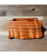 Wood Jewelry Box Redwood Tree Engraved Rustic Handmade Curly Wood #X Bir... - $91.99
