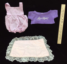 Cabbage Patch Outfit Bloomer Jumper Pink Gingham Las Vegas Purple T Shir... - $10.34