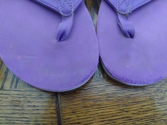 Converse Purple Flip Flop Sandals Size 9.5