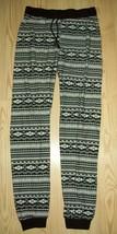 1st Kiss Girls Pants Size 14 16 Black White Stripe Knit Waistband Casual... - $17.81