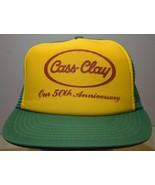 Vintage Strapback Trucker Mesh Hat Cass-Clay Dairy 50th Anniversary Farg... - $16.65
